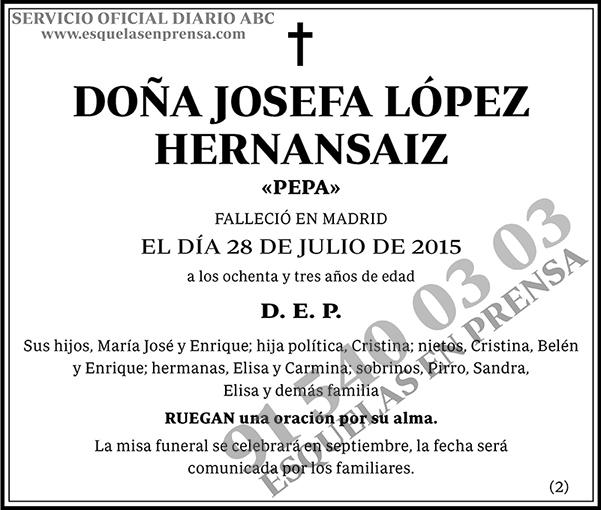 Josefa López Hernansaiz